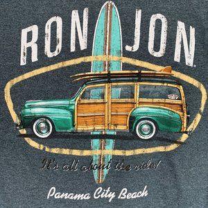 Ron Jon Surf Shop Shirt M Gray Panama City Beach